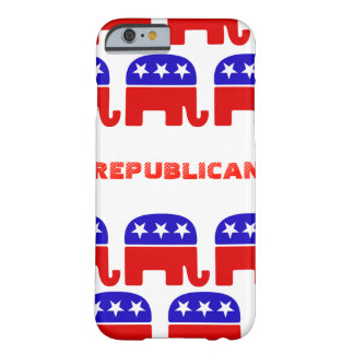 Funda Barely There iPhone 6 Elefante del republicano del personalizar