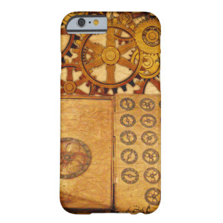 Funda Barely There iPhone 6 Engranajes de Steampunk del Grunge