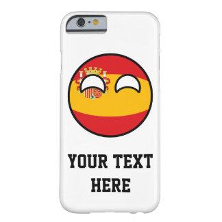 Funda Barely There iPhone 6 España Geeky que tiende divertida Countryball