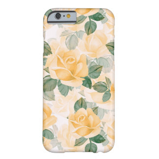 Funda Barely There iPhone 6 Estampado de flores con los rosas amarillos