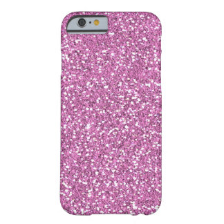 Funda Barely There iPhone 6 Falso caso rosado del iPhone 6 del brillo