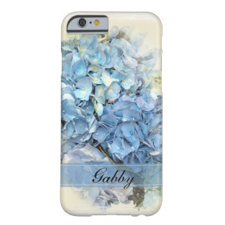Funda Barely There iPhone 6 Flores azules del Hydrangea