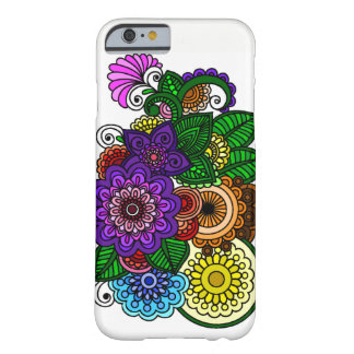 Funda Barely There iPhone 6 Flores de la mandala