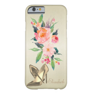 Funda Barely There iPhone 6 Flores femeninas elegantes de la acuarela,