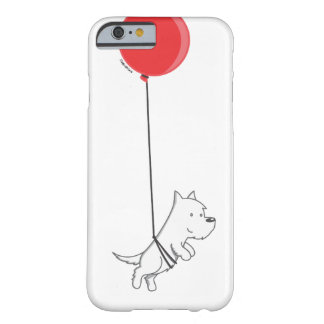 Funda Barely There iPhone 6 flying balloon westie