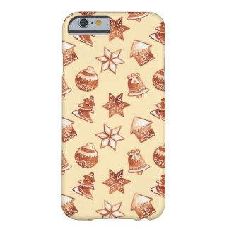 Funda Barely There iPhone 6 Galletas del jengibre del navidad de la acuarela