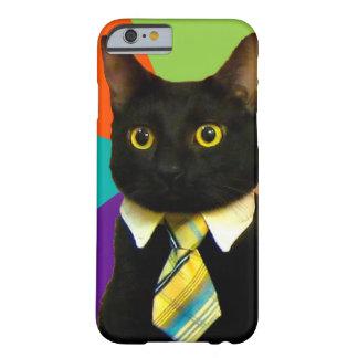 Funda Barely There iPhone 6 gato del negocio - gato negro