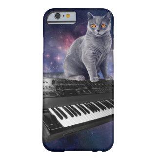 Funda Barely There iPhone 6 gato del teclado - música del gato - espacie el