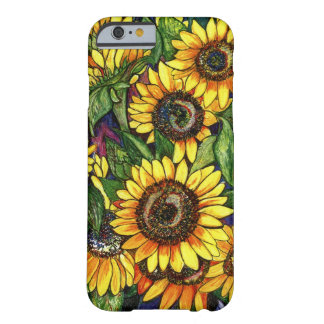 Funda Barely There iPhone 6 Girasoles
