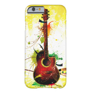 Funda Barely There iPhone 6 Grunge de la guitarra acústica