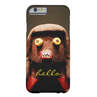 "Funda Barely There iPhone 6 ""Hola"" figura linda, divertida, dulce, impar foto"