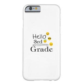 Funda Barely There iPhone 6 Hola tercero califique los 3ro regalos divertidos