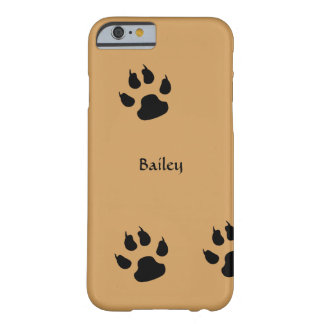 Funda Barely There iPhone 6 Huellas del perro