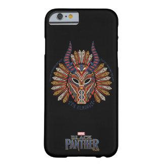 Funda Barely There iPhone 6 Icono tribal negro de la máscara de la pantera el