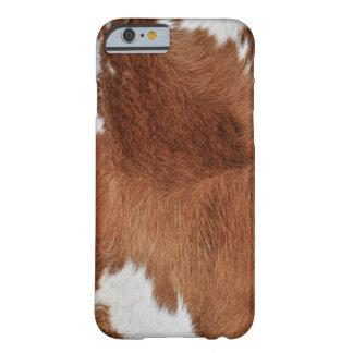 Funda Barely There iPhone 6 Impresión de la piel de la vaca