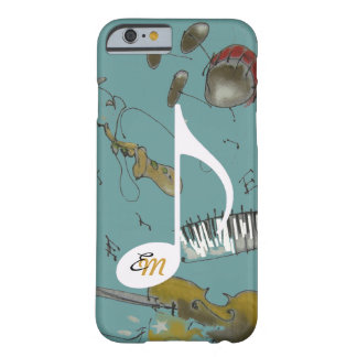 Funda Barely There iPhone 6 instrumentos de la nota musical y de música