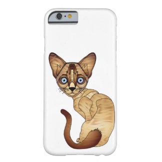 Funda Barely There iPhone 6 iPhone 6/6s, caja del gato siamés del teléfono de