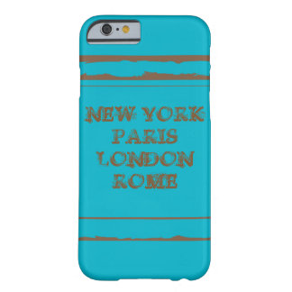 Funda Barely There iPhone 6 iPhone 6, Barely There NEW YORK PARIS LONDON ROME