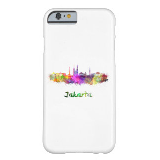 Funda Barely There iPhone 6 Jakarta skyline in watercolor
