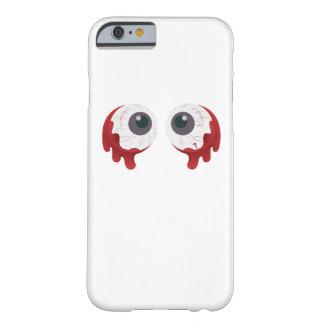 Funda Barely There iPhone 6 La bola asustadiza Halloween del ojo calcula