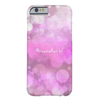 Funda Barely There iPhone 6 La chispa rosada púrpura Bokeh enciende moda del