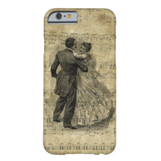 Funda Barely There iPhone 6 La nota de la música de la antigüedad de los pares