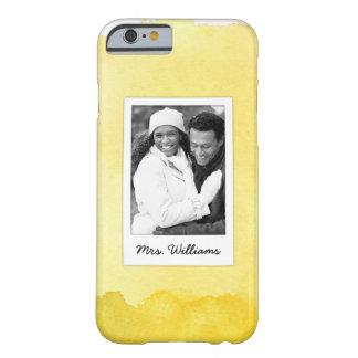Funda Barely There iPhone 6 La pintura amarilla el | de la acuarela añade la