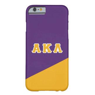 Funda Barely There iPhone 6 Letras alfa del Griego de la lambda el | de Kappa