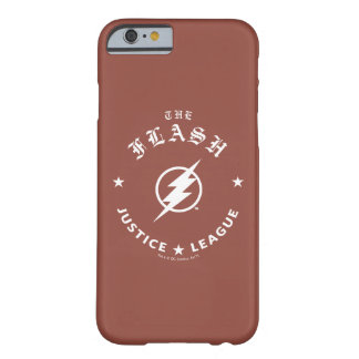 Funda Barely There iPhone 6 Liga de justicia el | el emblema retro de destello