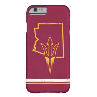 Funda Barely There iPhone 6 Logotipo clásico del estado de ASU el |