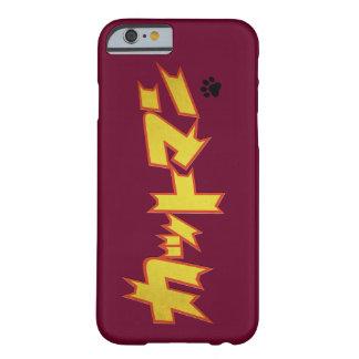 Funda Barely There iPhone 6 Logotipo japonés del super héroe de CATman