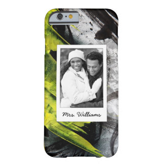 Funda Barely There iPhone 6 Los movimientos negros y amarillos del cepillo el