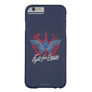 Funda Barely There iPhone 6 Lucha de la Mujer Maravilla para el símbolo de paz