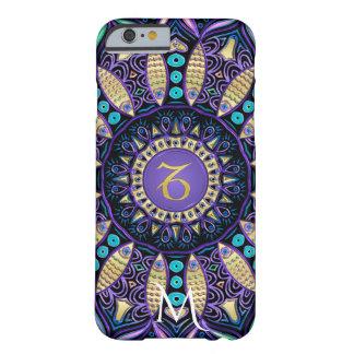 Funda Barely There iPhone 6 Mandala del Capricornio de la muestra del zodiaco