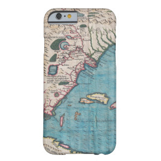 Funda Barely There iPhone 6 Mapa antiguo de la Florida y de Cuba