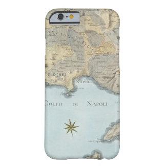 Funda Barely There iPhone 6 Mapa del golfo de Nápoles y de los alrededores