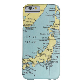 Funda Barely There iPhone 6 Mapa del vintage de Japón