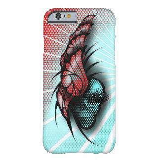 Funda Barely There iPhone 6 Mariposas y un cráneo