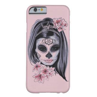 Funda Barely There iPhone 6 Máscara del esqueleto de la mujer