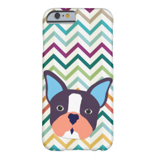 Funda Barely There iPhone 6 Mascota de encargo del color del zigzag del dogo