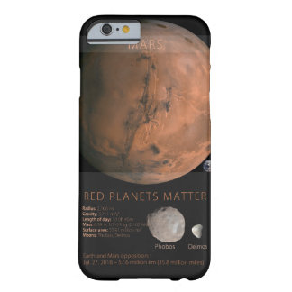 Funda Barely There iPhone 6 Materia roja de los planetas