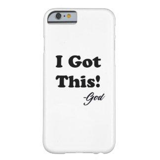 Funda Barely There iPhone 6 Mensaje de dios