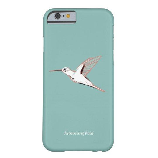 Funda Barely There iPhone 6 Mint hummingbird elegant minimalist whimsical case