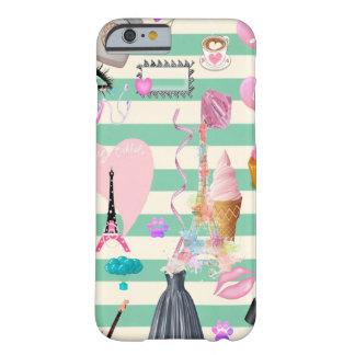 Funda Barely There iPhone 6 Moda adorable, París, modelo de los corazones