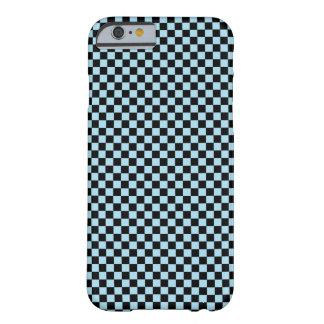 Funda Barely There iPhone 6 Modelo a cuadros azul/del negro en colores pastel