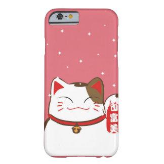 Funda Barely There iPhone 6 Modelo afortunado lindo del gato para Iphone