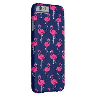 Funda Barely There iPhone 6 Modelo del flamenco de las rosas fuertes