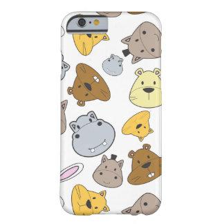 Funda Barely There iPhone 6 Modelo lindo del retrato de los animales del