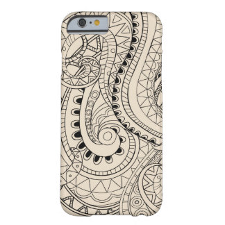 Funda Barely There iPhone 6 monochrome beige abstract  pattern