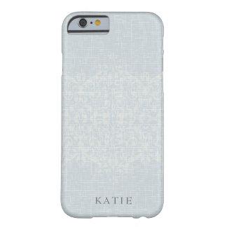 Funda Barely There iPhone 6 Monograma imponente de la plata y del cordón